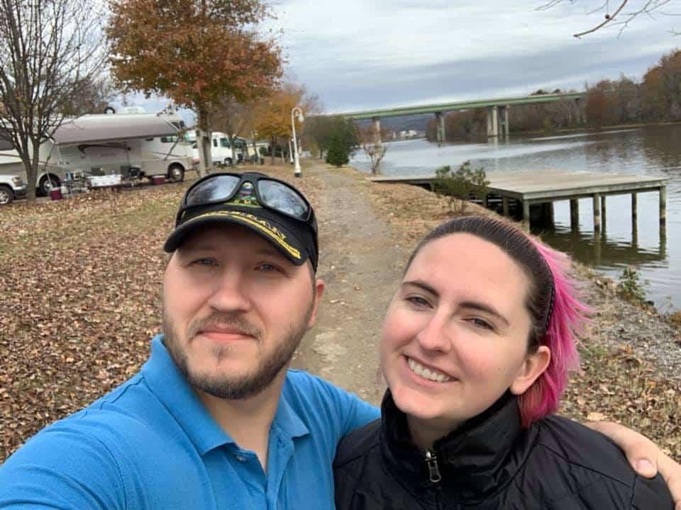 Us walking around at the RV park